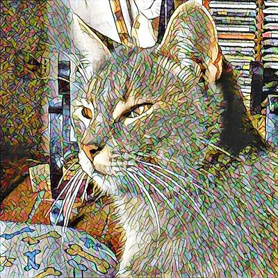 Photograph - Stevie Mouse Mosaic Style by Dorothy Berry-Lound