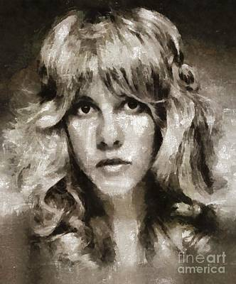 Music Paintings - Stevie Nicks by Mary Bassett by Esoterica Art Agency