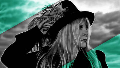 Stevie Nicks Collection Art Print by Marvin Blaine