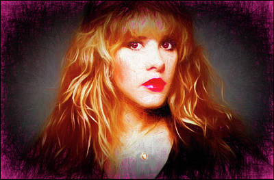 Digital Art - Stevie Nicks Drawing by Michael Cleere