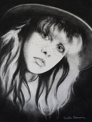 Drawing - Stevie Nicks Of Fleetwood Mac Has Anyone Ever Written Anything For You by Carla Carson