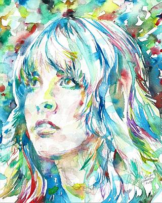 Painting - Stevie Nicks - Portrait by Fabrizio Cassetta