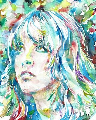 Painting - Stevie Nicks - Portrait by Fabrizio Cassetta