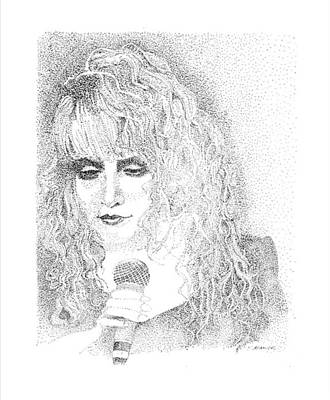 Stevie Nicks Drawing - Stevie Nicks by Terry Adamick