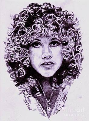 Drawing - Stevie Nicks by Toon De Zwart
