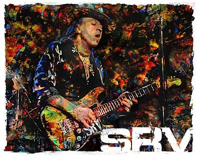 Musicians Royalty Free Images - Stevie Ray Royalty-Free Image by Mal Bray