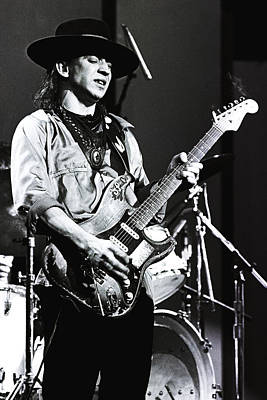 Perform Photograph - Stevie Ray Vaughan 1984  by Chris Walter