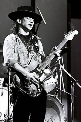 Photograph - Stevie Ray Vaughan 1984 No2 by Chris Walter