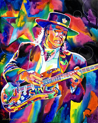 Stratocaster Painting - Stevie Ray Vaughan by David Lloyd Glover