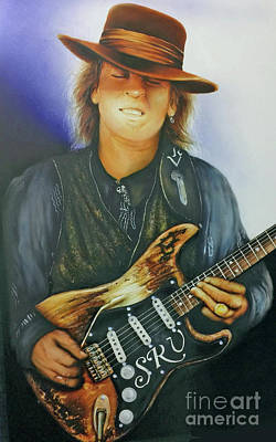 Painting - Stevie Ray Vaughan by Pete Sintes