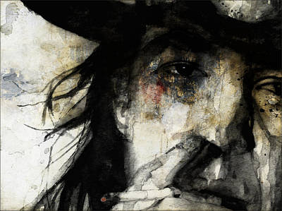 Mixed Media - Stevie Ray Vaughan Retro by Paul Lovering