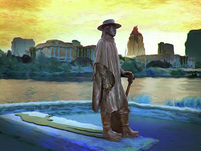 Stevie Ray Vaughan Statue - Austin, Tx Art Print