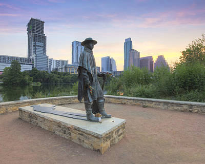 Stevie Ray Vaughan Photograph - Stevie Ray Vaughan Statue In Austin Texas 1 by Rob Greebon