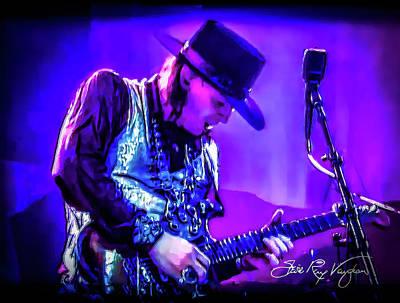Photograph - Stevie Ray Vaughan - Tightrope by Glenn Feron