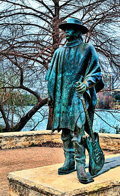 Photograph - Stevie Ray Vaughan Vibrant Colors by Judy Vincent