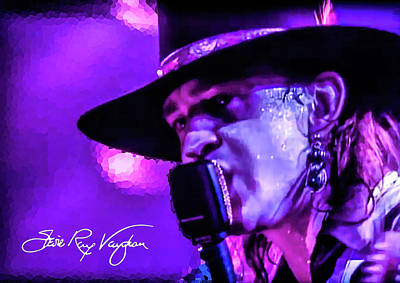 Photograph - Stevie Ray Vaughan- Voodoo Chile by Glenn Feron