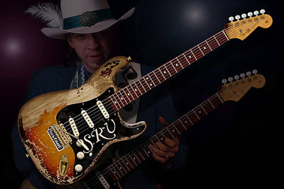 Photograph - Stevie Ray Vaughan by WB Johnston