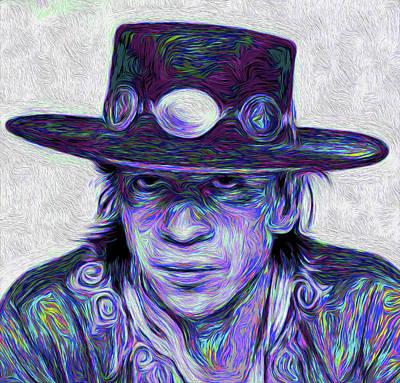Stevie Ray Vaughan #002 Nixo Art Print by Nicholas Nixo