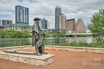 Skylines Photograph - Stevie Ray Vaughn Austin by Tod and Cynthia Grubbs