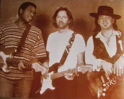 Robert Cray Photograph - Stevie Ray Vaughan  Eric Clapton  Robert Cray by Donna Wilson