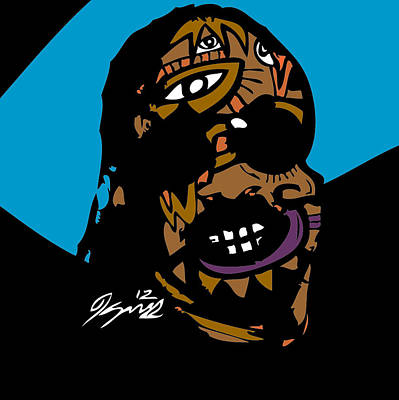 Blackart Digital Art - Stevie Wonder Full Color by Kamoni Khem