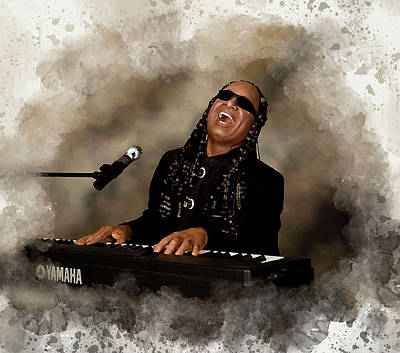 Rhythm And Blues Digital Art - Stevie Wonder by Karl Knox