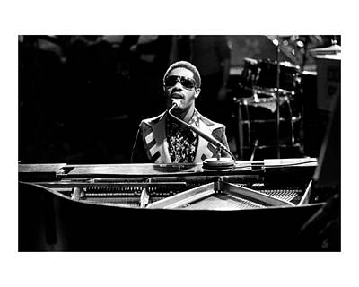 Piano Photograph - Stevie Wonder Limited Edition by Chris Walter