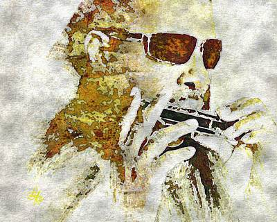 Digital Art - Stevie Wonder by Lynda Payton