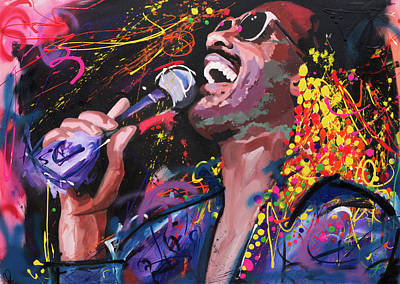 Keyboards Painting - Stevie Wonder by Richard Day