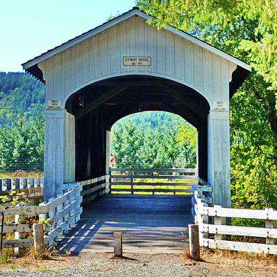 Photograph - Stewart  Mosbey Creek Covered Bridge by Ansel Price