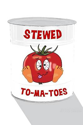 Digital Art - Stewed To Ma Toes by John Haldane