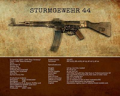 Digital Art - Stg 44 Sturmgewehr 44 by John Wills