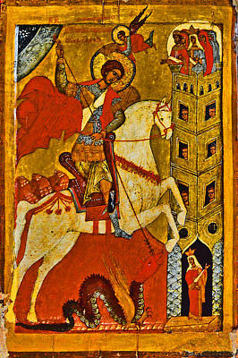 Russian Icon Digital Art - St.george And The Dragon. by Andy Za