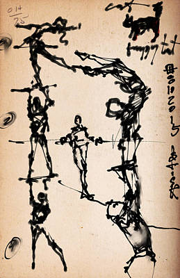 Stick Figure Study II Art Print by H James Hoff
