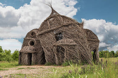 Photograph - Lean On Me - Stick House Series #3 by Patti Deters
