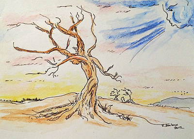 Painting - Stick Season by Rachel Barlow