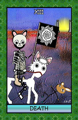Digital Art - Stickee Critters - Death by Iowan Stone-Flowers