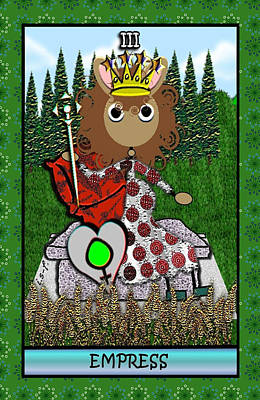 Digital Art - Stickee Critters - Empress by Iowan Stone-Flowers