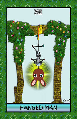 Digital Art - Stickee Critters - Hanged Man by Iowan Stone-Flowers