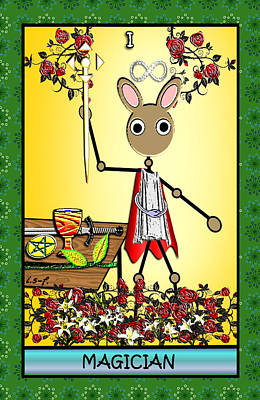 Digital Art - Stickee Critters - Magician by Iowan Stone-Flowers