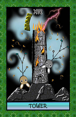 Digital Art - Stickee Critters - Tower by Iowan Stone-Flowers