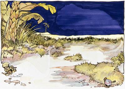 Sticker Landscape 4 Oasis Art Print by Karl Frey