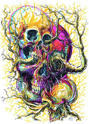 Sticks And Bones Art Print by Ryan Irish