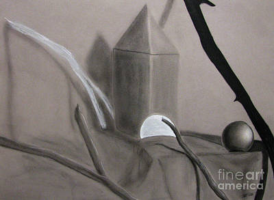 Drawing - Sticks And Stone Objects by Peter Piatt