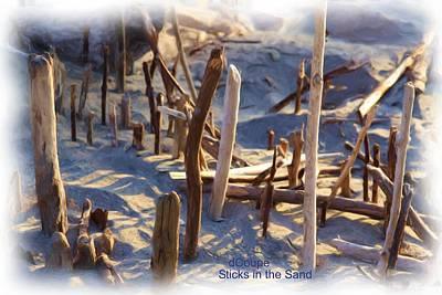 Sticks In The Sand-oil Original