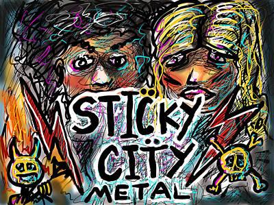 Digital Art - Sticky City Metal by Joe Bloch