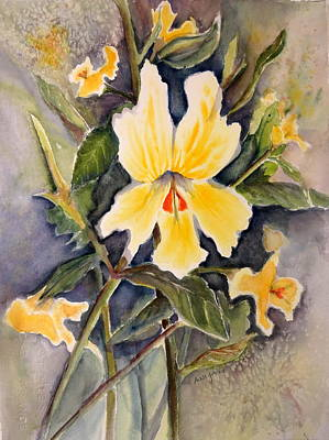 Sticky Monkey Flower Art Print