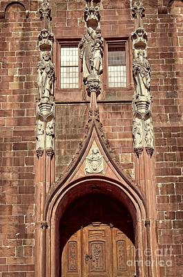 Photograph - Stiftskirche Baden-baden Entrance by Elzbieta Fazel