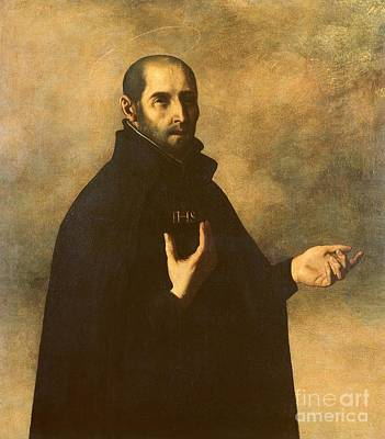 Saint Painting - St.ignatius Loyola by Francisco de Zurbaran