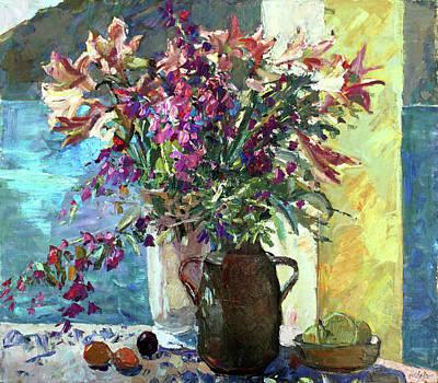 Painting - Stiil Life With Flowers by Juliya Zhukova